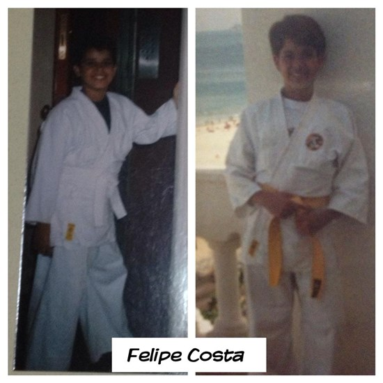 Felipe Costa First BJJ pictures