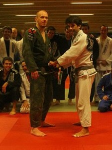 Ken Van Gilbergen getting black belt from Felipe Costa 2011